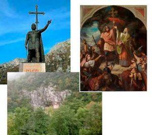 La batalla de Covadonga
