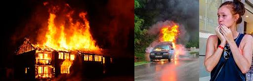 miedo fuego casa coche
